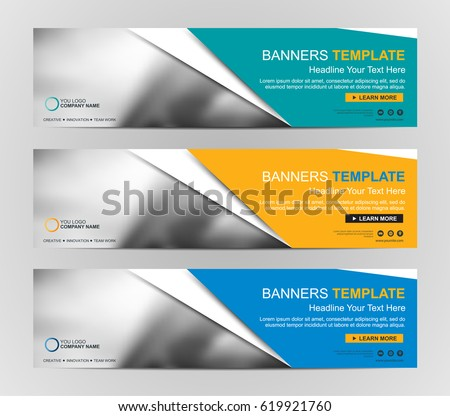 Abstract Web Banner Design Background Header Stock Vector ...