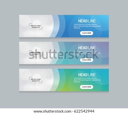 Abstract Web Banner Design Background Header Stock Vector ...