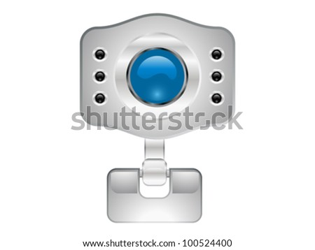abstract web camera icon vector illustration