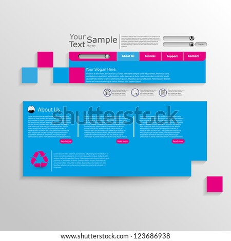 Abstract web design - stock vector