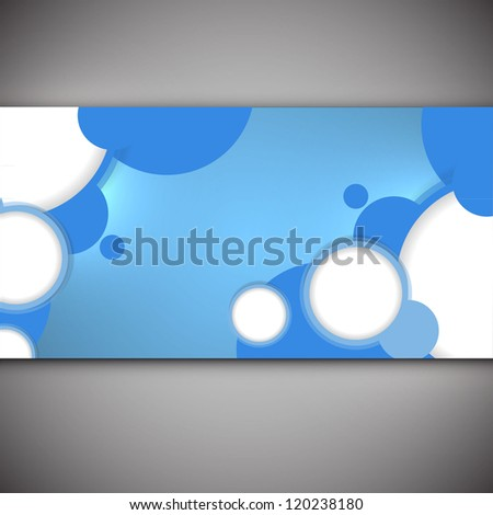 Abstract web design bubble, vector - stock vector