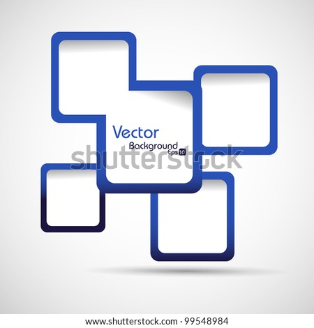 Abstract web design vector illustration in blue color, isolated on white. EPS 10. - stock vector