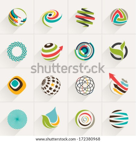 Abstract web Icons and globe vector logos