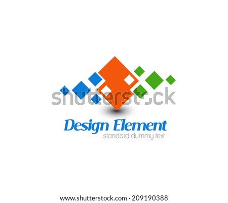 Abstract web Icons and vector logo - stock vector