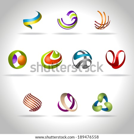 Abstract web Icons set - stock vector