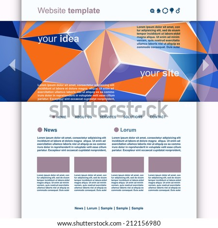 Abstract Website Design Header vector - stock vector