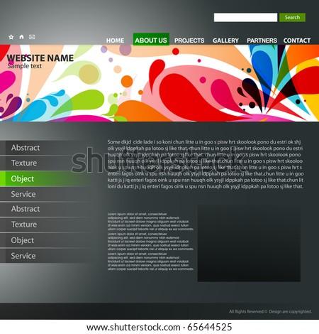 abstract Website design template, vector illustration. - stock vector