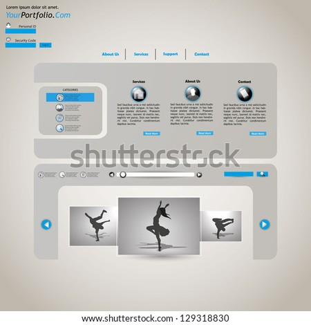 Abstract Website template - stock vector