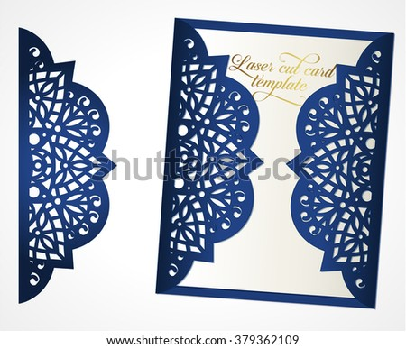 Abstract wedding cutout invitation template may stock for Free laser cutter templates