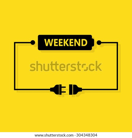 Abstract weekend loading - stock vector