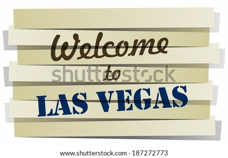 Abstract Welcome To Las Vegas Banner vector Illustration