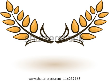 Abstract wheat on white background - stock vector