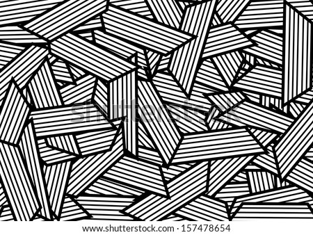 Abstract White and Black Pattern. Vector - stock vector