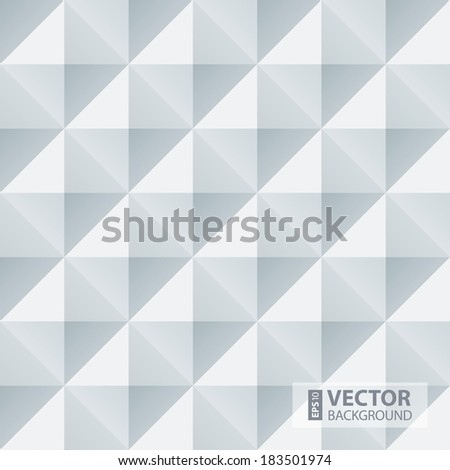 Abstract white and grey geometric squares seamless pattern. RGB EPS 10 vector illustration - stock vector