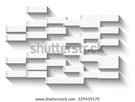 Abstract white background with glowing rectangles for business cards or covers. Vector illustration - stock vector