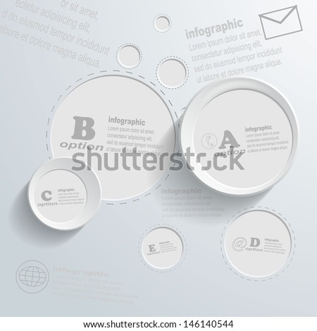 Abstract white circle background - Vector illustration - stock vector