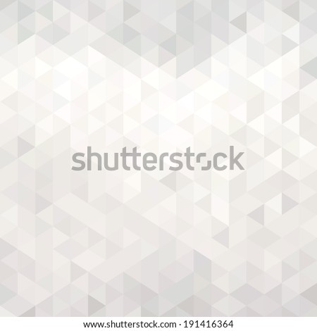 Abstract white geometric background - origami - stock vector