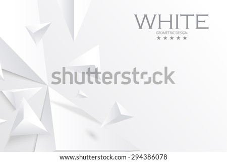 Abstract white geometric 3D background. Vector Illustration - stock vector
