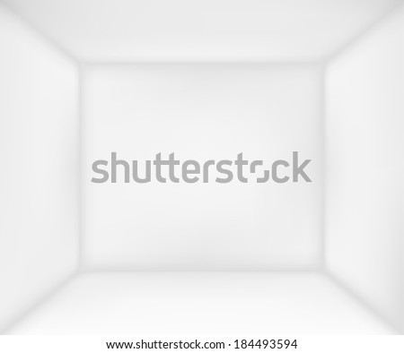 Abstract white room for presentation with copyspace - stock vector