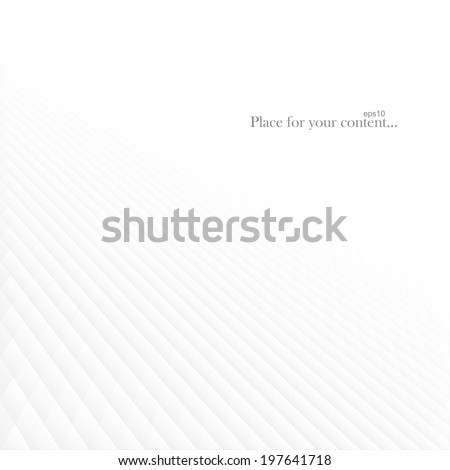 Abstract white striped background - stock vector