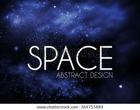 Abstract White Texture on Blue Background. Universe & Space Design. Night Sky & White Powder. Vector illustration - stock vector