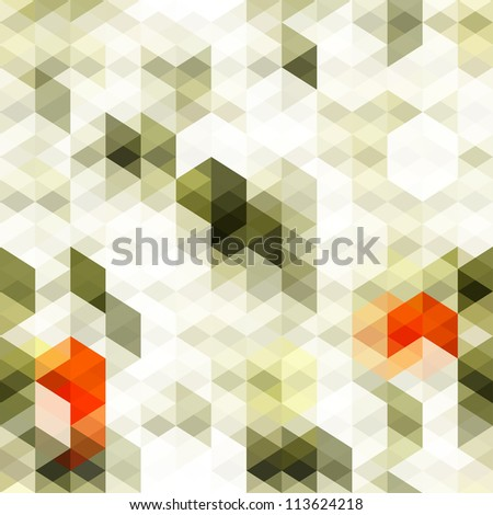 abstract white triangle seamless - stock vector