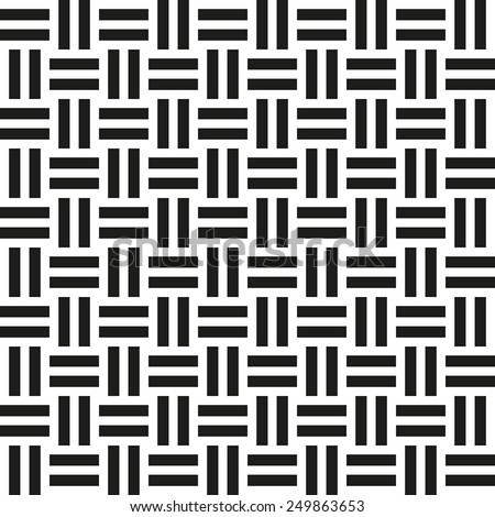 Abstract wicker seamless pattern. Vector illustration for retro design. Simple texture of cloth.