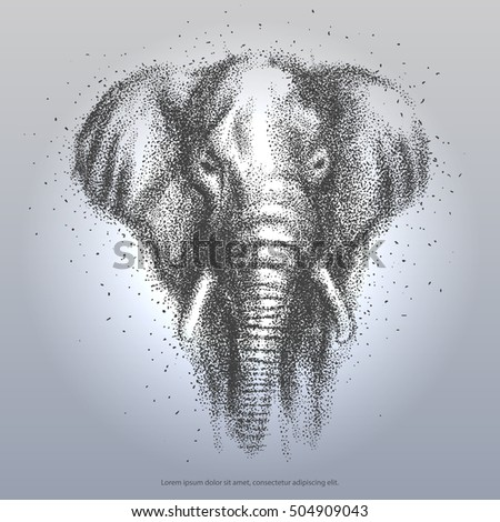 abstract wild elephant