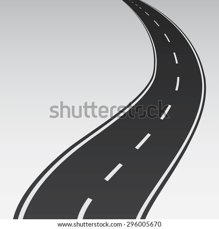 Abstract winding road - Vector illustration - stock vector