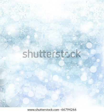 Abstract Winter background.Christmas abstract bokeh. Vector - stock vector