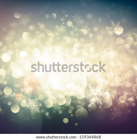 Abstract winter background, eps 10 - stock vector