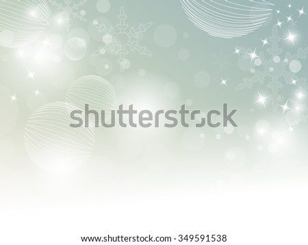 Abstract winter background in soft retro colors with bokeh lights - stock vector