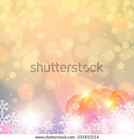 Abstract winter light colors snowflakes background  - stock vector