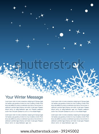 Abstract winter scene for your magazine - stock vector