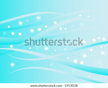 abstract winter swirl and snowflakes design