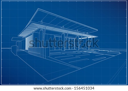 Architecture Blueprints 3d 3d blueprint stock images, royalty-free images & vectors