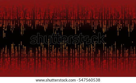 Abstract with digital lines, binary code, matrix background with digits. High-tech computer background, frame
