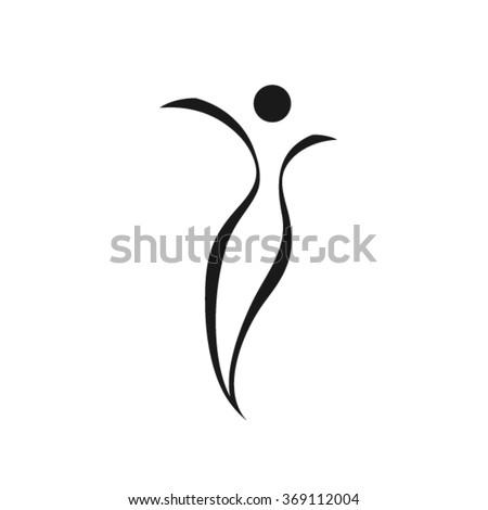 Abstract woman Logo  - stock vector