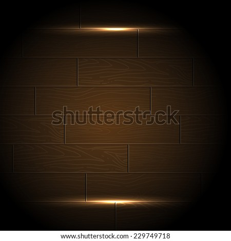Abstract wood background. Background of brown old natural wood planks. Old wooden texture. Wood planks texture. Vector illustration wooden background. Realistic wooden texture with boards - stock vector