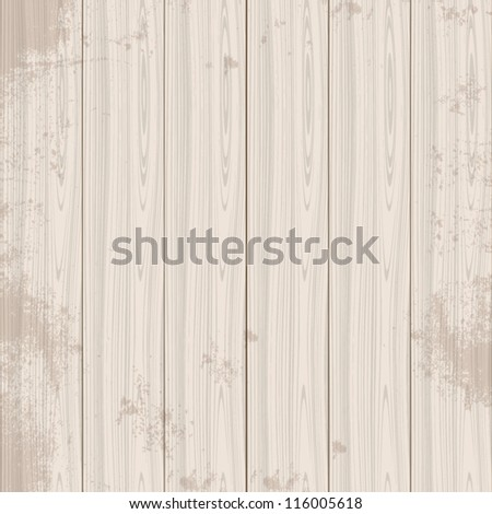 Abstract wood texture with wooden boards, background pattern - stock vector