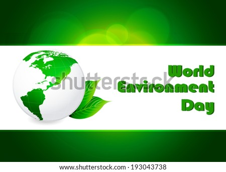 abstract world environment day concept background, vector illustration - stock vector