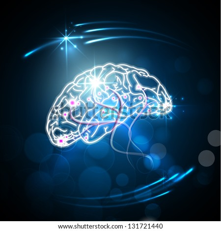 Abstract World health day concept with human brain. - stock vector