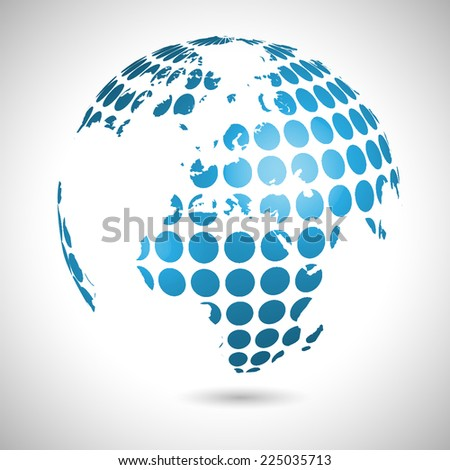 Abstract world illustration, vector