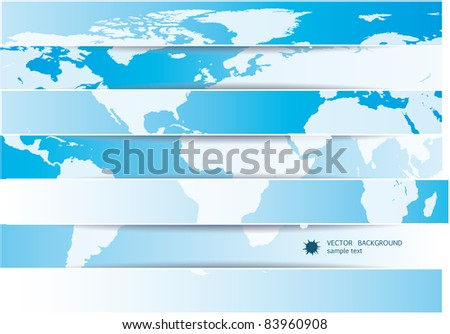 Abstract world map background - stock vector