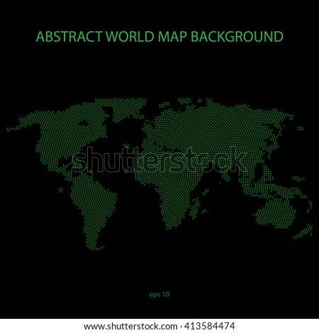 Abstract world map background filled by X symbol in circle distribution.