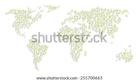 Abstract world map squares stock vector 255700663 shutterstock abstract world map from squares gumiabroncs Image collections