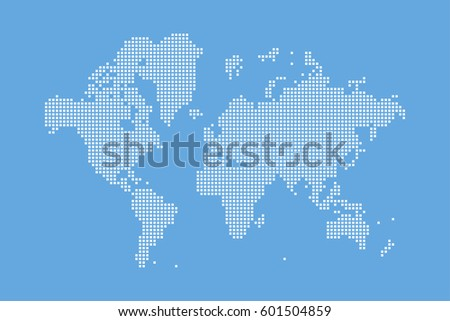 Abstract world map square dots flat stock vector 601504859 abstract world map in a square dots flat vector illustration eps 10 gumiabroncs Images