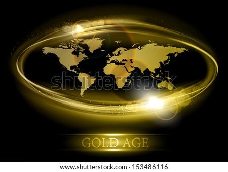 Abstract world map gold color vectores en stock 153486116 shutterstock abstract world map in the gold color gumiabroncs Choice Image