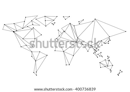 Abstract world map lines connection vector vectores en stock abstract world map lines connection vector illustration gumiabroncs Choice Image