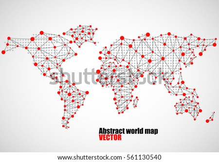 Abstract world map dots line vector stock photo photo vector abstract world map of dots and line vector illustration eps 10 publicscrutiny Gallery